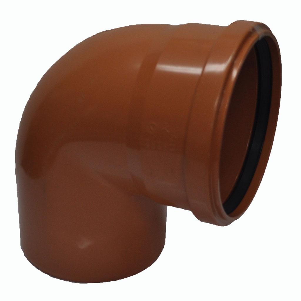 Отвод канализационный ПВХ 110 мм на 90 градусов купить в Москве ? низкие цены
