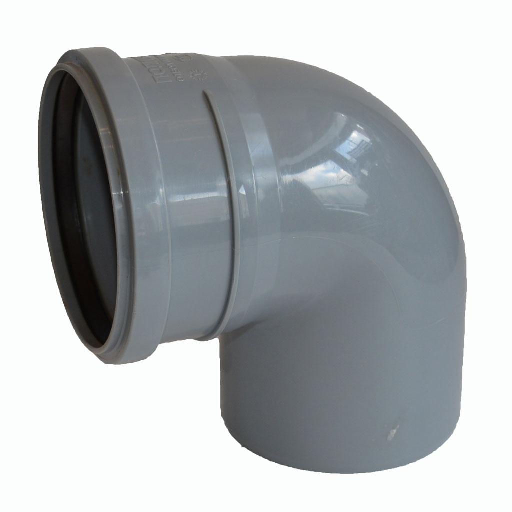 ? Отвод для внутренней канализации Синикон стандарт диаметр 110 мм 90 градусов купить в Москве низкие цены